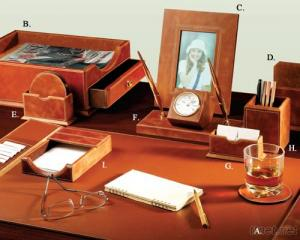 Active-Top Leather 9 - PC Desk Set